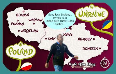 Rooney digantung tiga perlawanan EURO 2012,kad merah wayne rooney lawan montenegro,kenapa rooney digantung perlawanan,penyerang england