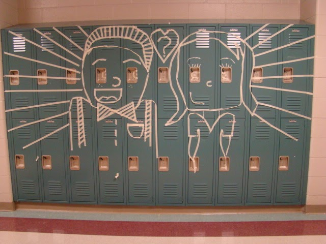 art of apex high school masking tape murals. Black Bedroom Furniture Sets. Home Design Ideas