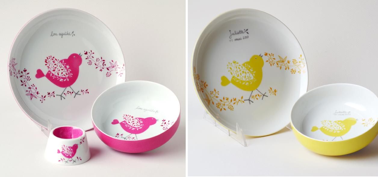 Carolina leon firrell la vaisselle pour b b personnalis e - Service vaisselle noel ...