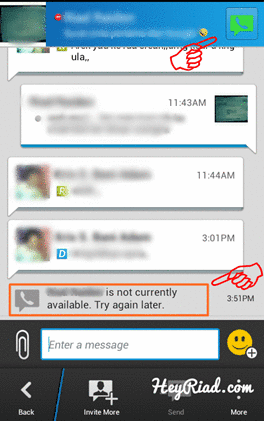 Cara nelpon di BBM Android