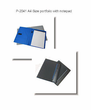 "CENTRUM LINK - NEW - ""Black A4 Sized Portfolio With Notebook"" - P-2041"