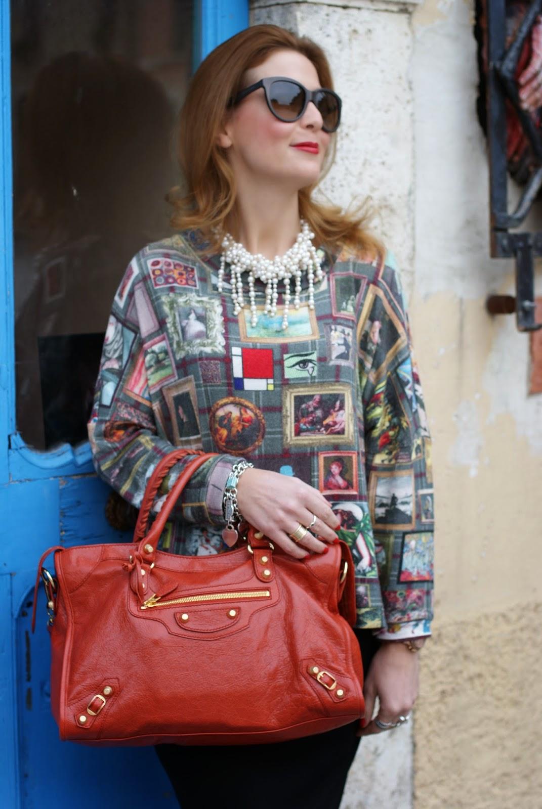 Asos midi pencil skirt, Balenciaga City bag, Nando Muzi brogues, Fashion and Cookies, fashion blogger