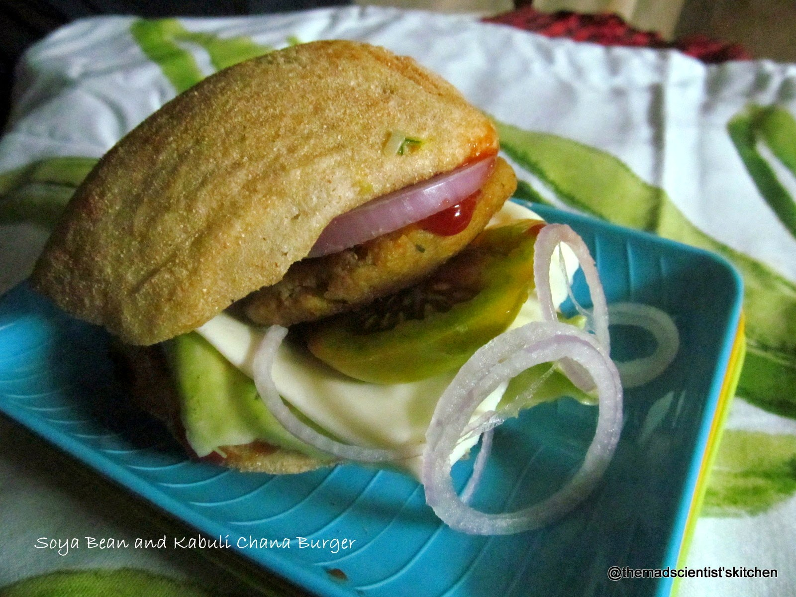 Soya Bean and Kabuli Chana Burgers