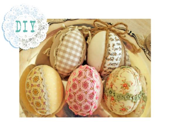 Decorazioni per pasqua uova di polistirolo rivestite di for Decorazioni polistirolo