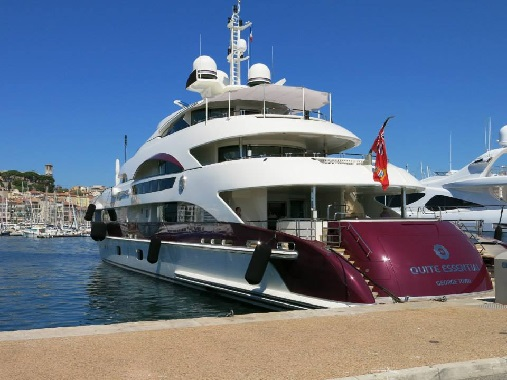 Quite Essential in the port of Cannes