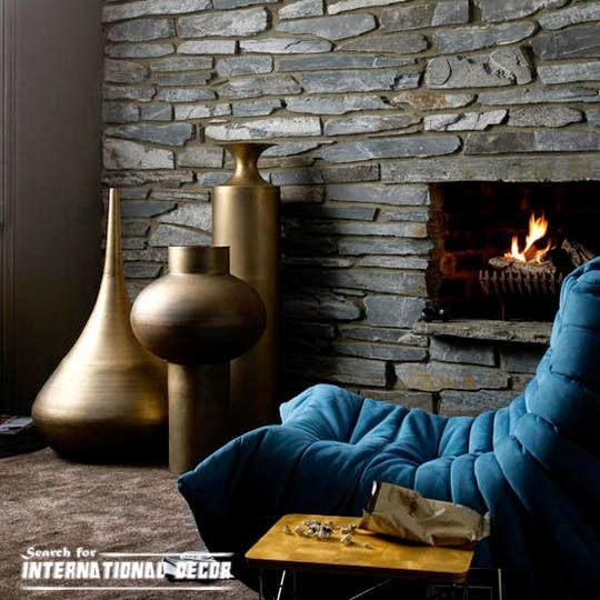 decorative stone wall for living room