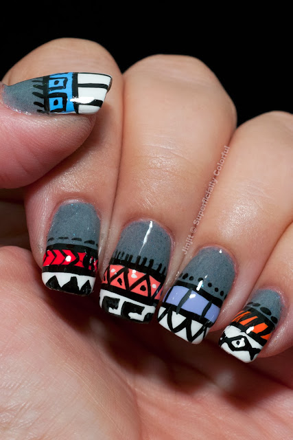 Dandy Nails - Bound To Fall Tribal with BarryM