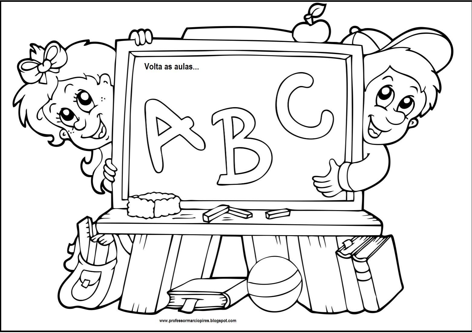 Professor m rcio figuras para colorir de volta as aulas - Toddler libro da colorare ...