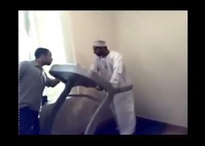 Arab Lucu Ngapak Gagal Pakai Treadmill