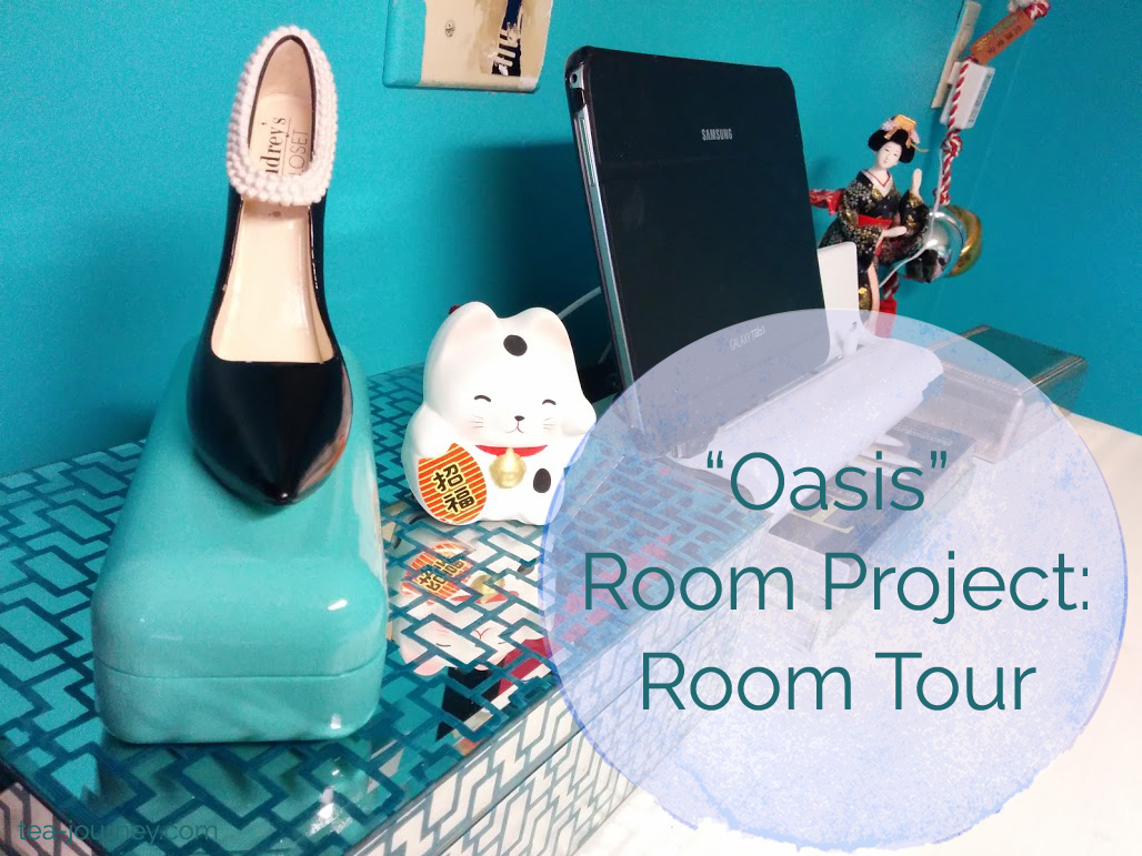 Oasis Room Project was a project to create a space that inspired and allowed myself somewhere to rest (meditate). lucky cat tablet audrey hepburn shoe tiffany blue