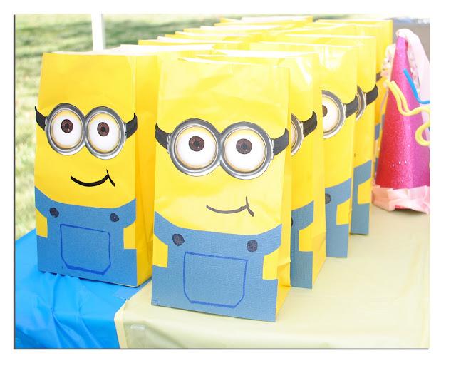 Minions bolsas para regalos tutorial con imprimibles