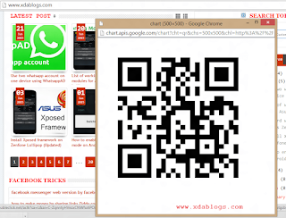 Share links from PC to mobile using QR Code