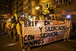 Los brigadistas antiincendios continúan la huelga
