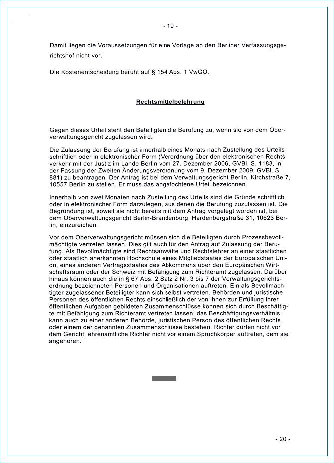 Partnersuche Berlin Brandenburg Urteile