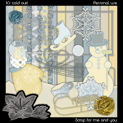 "Free scrapbook kit ""It's cold out!"" from Scrap for you and me"