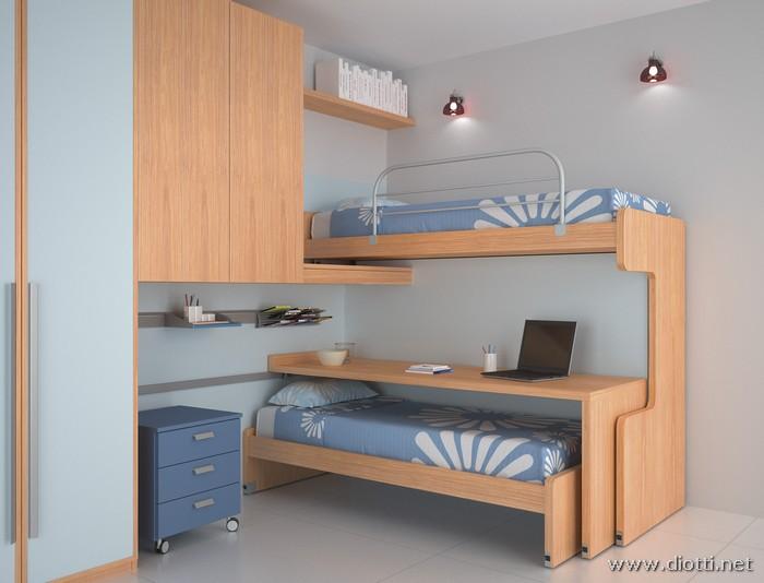 Camerette a soppalco salvare lo spazio con stile blog - Camera con letto a castello ...