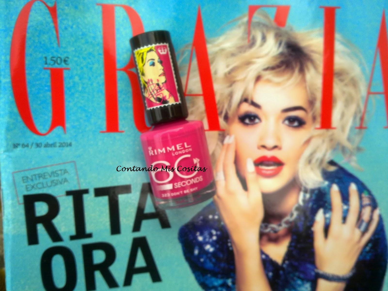 regalo laca uñas rimmel revista gracia abril mayo 2014
