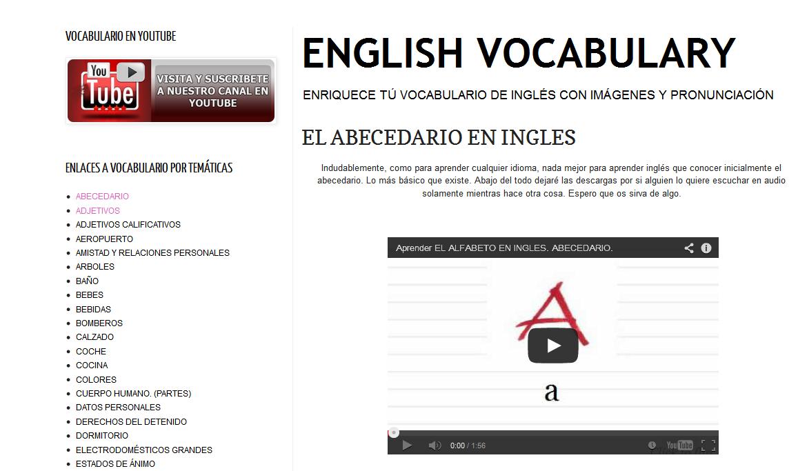 http://vocabulariodeingles.blogspot.com.es/2011/04/el-abecedario-en-ingles.html