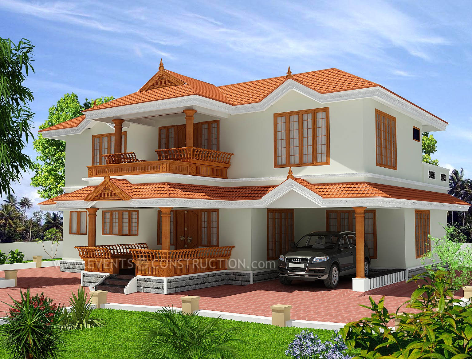 Traditional kerala home in 2346 sqft living room for Traditional kerala style house designs
