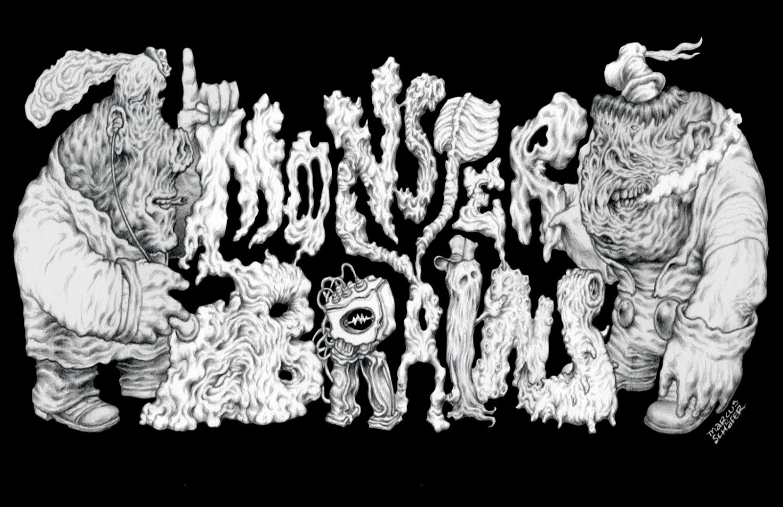 Monster Brains logo illustrated by Marcus Schäfer.