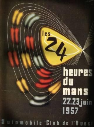 Affiche officielle des 24 Heures du Mans 1957