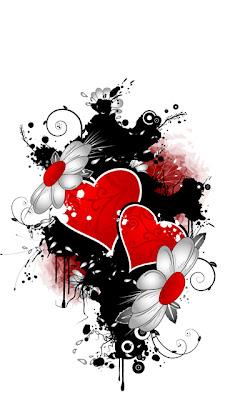 Srca i cvijeće za Valentinovo download besplatne pozadine slike za mobitele