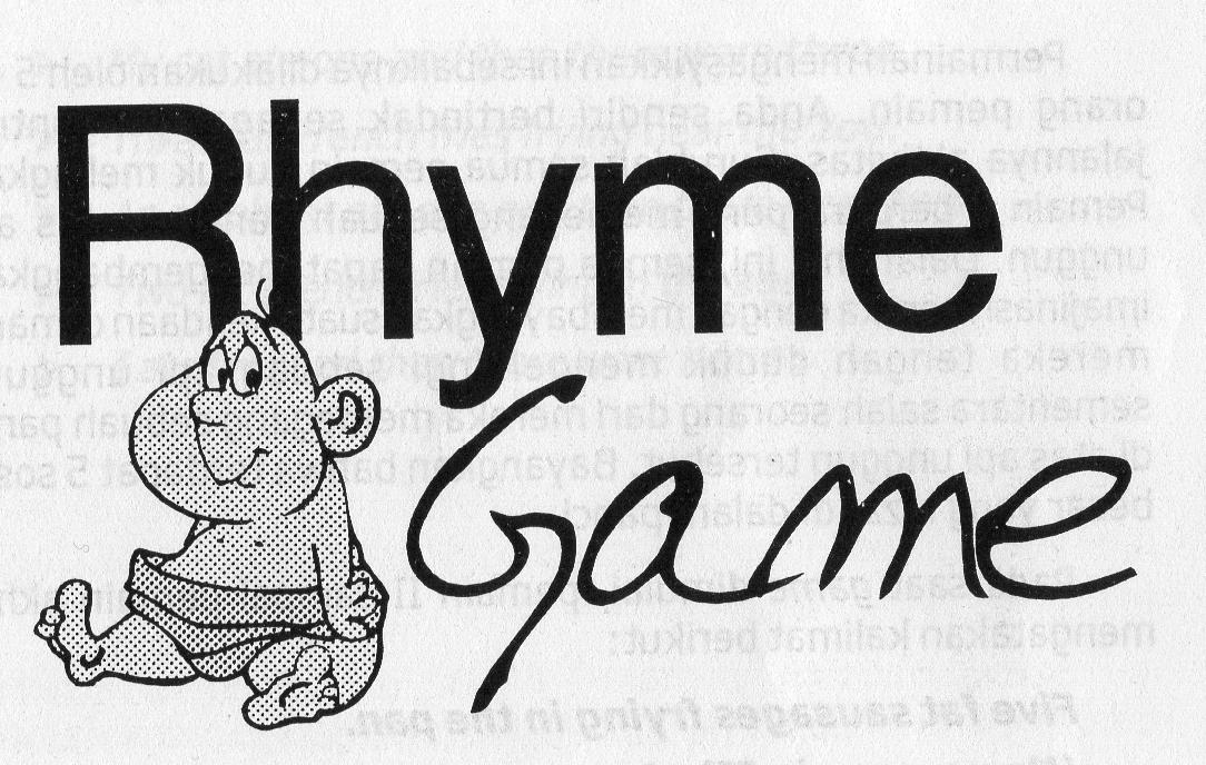 7 Contoh Rhyme Games yang Mengasyikan