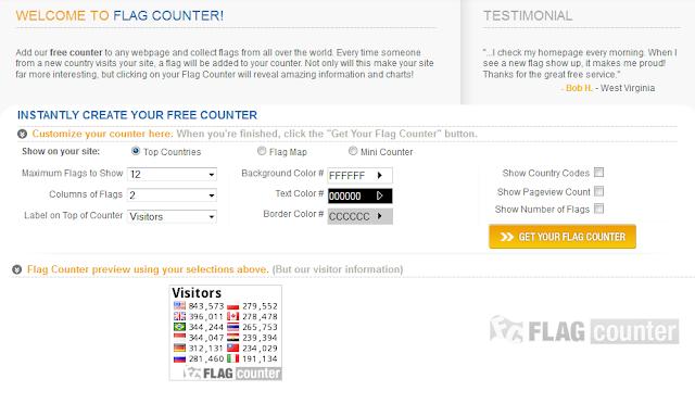 Cara memasang Widget Mengetahui Jumlah Pengunjung Untuk Blog