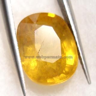 Web Batu Permata, Natural yellow Sapphire, sapir, safir