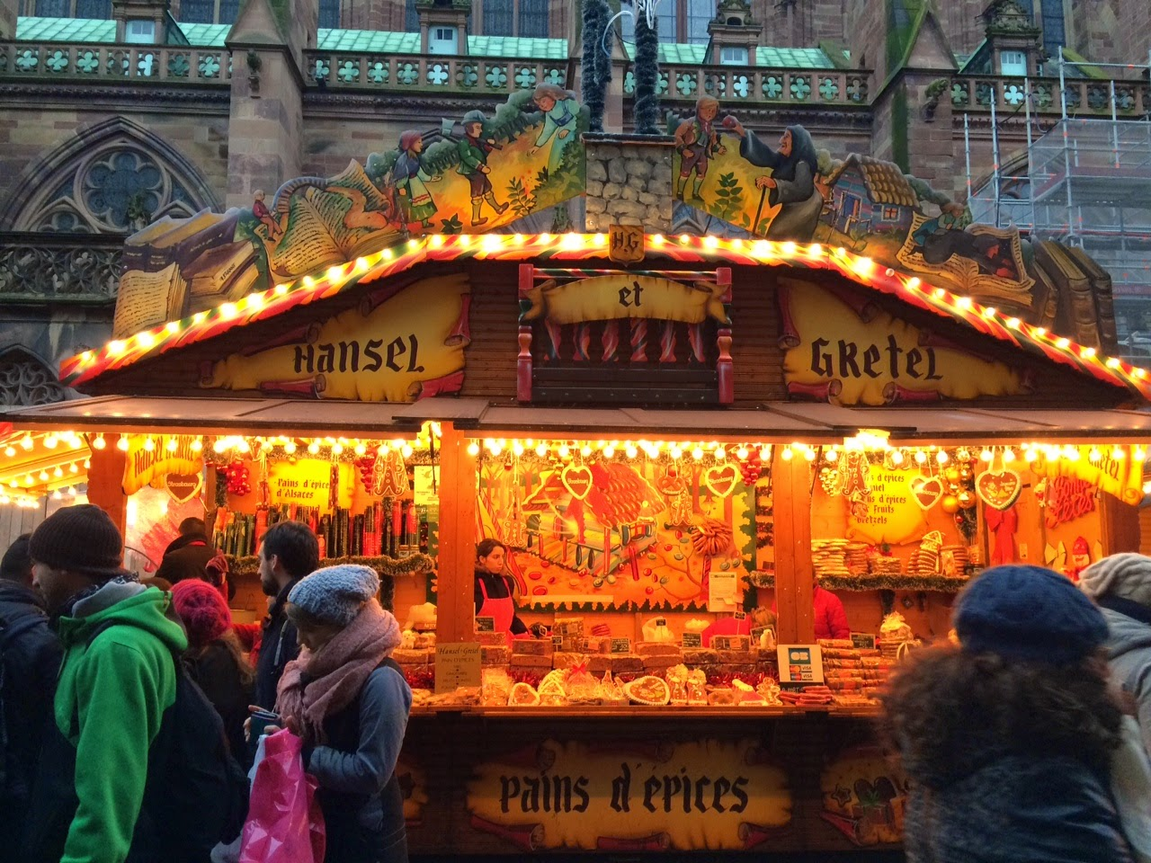 Sweets at a Christmas market in Strasbourg, France