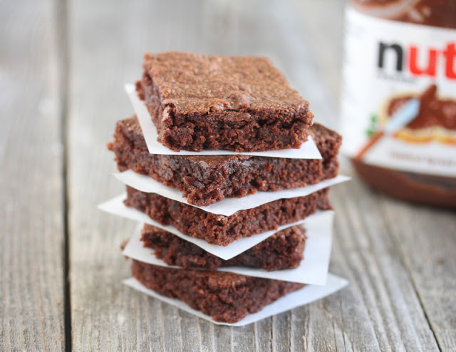 Two Girls in Skirts: What I baked: Nutella Brownies