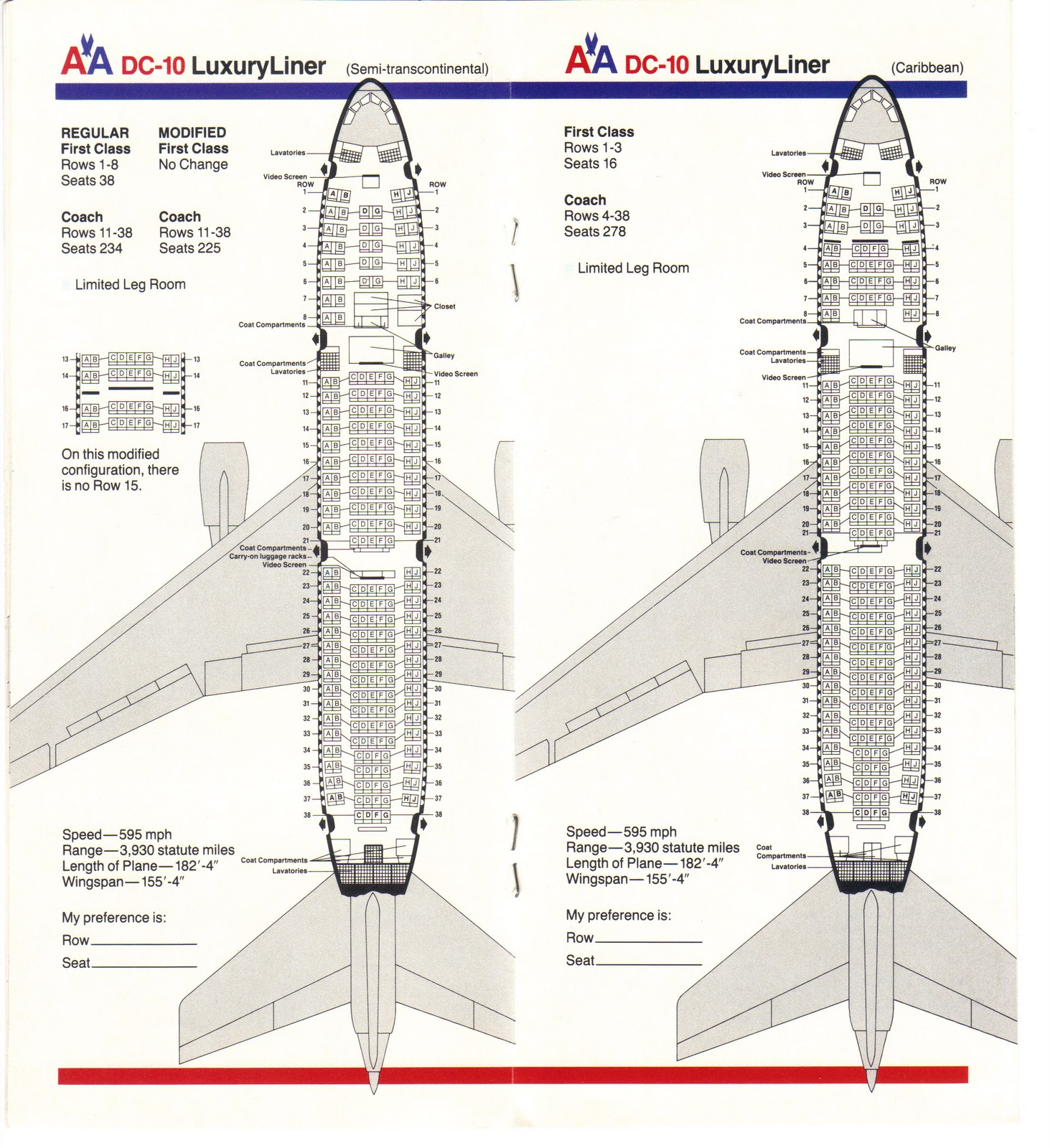 american airlines dc 10 seating guide map