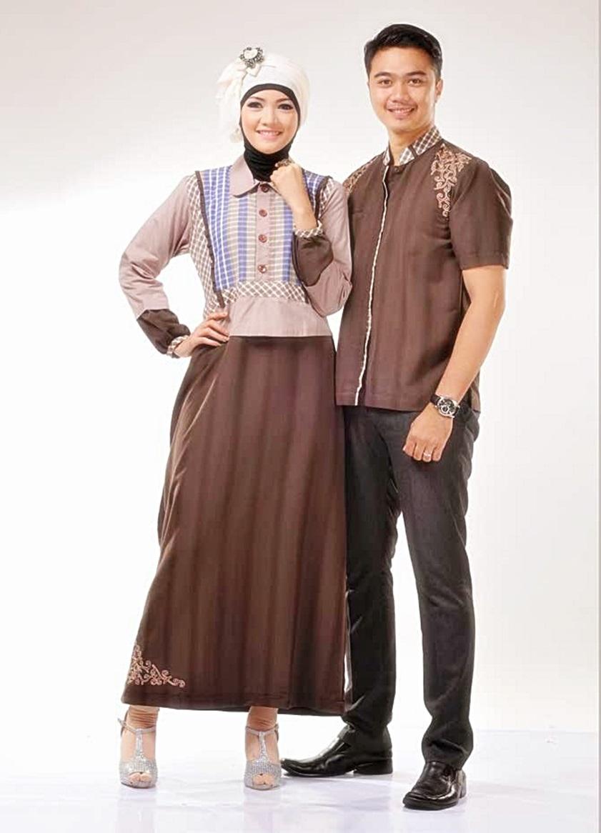 Contoh Model Baju Muslim Sarimbit Terbaru Dengan Kombinasi 30fcdc6ea7