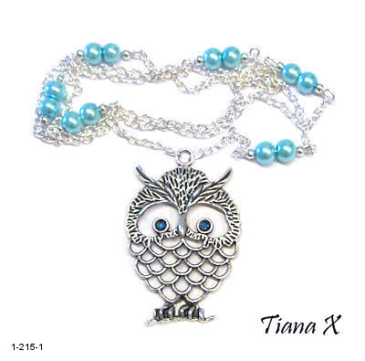 Tiana X - Kaulakoru, pöllö, Huuhkaja, turkoosi