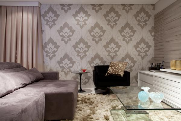 Arqui farofa arquitetura e design sala de estar for Sala de estar com papel de parede 3d