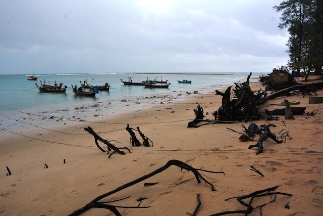 Nai Yang Beach fisher boats
