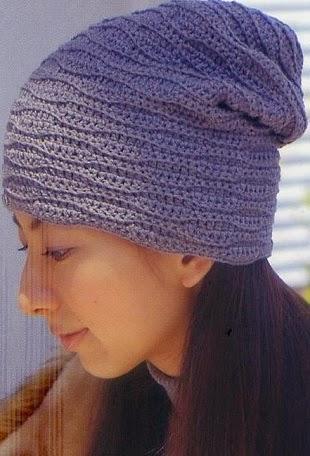 Touca feminina em crochê