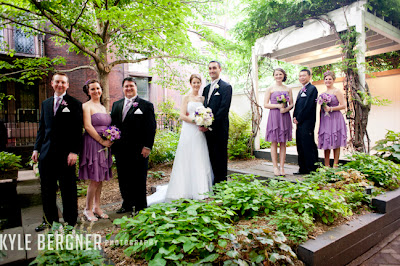 Bridal Party in Garden at Chase Court in Baltimore