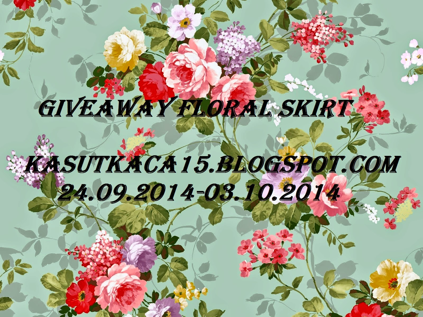 GIVEAWAY FLORAL SKIRT