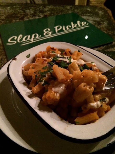 mac and cheese at The King & Co Slap & Pickle vs. Dogtown