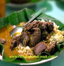 resep praktis dan mudah membuat (memasak) nasi gandul spesial khas pati (semarang) enak, gurih, lezat