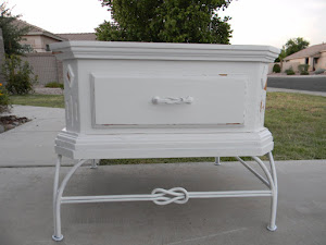 White Shabby End Table  *SOLD*