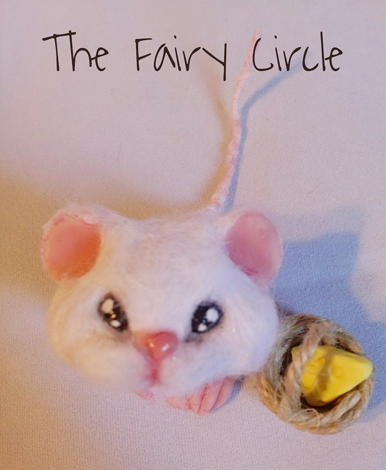 mouse ooak mice topo polimery clay miniature  animal cute
