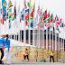 Diversas bandeiras são elevadas no último dia da ginástica artística no Pan