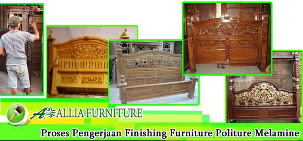 Proses Finishing Furniture Politur Melamine