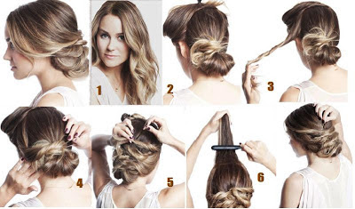 Coiffure simple et rapide cheveux mi-long