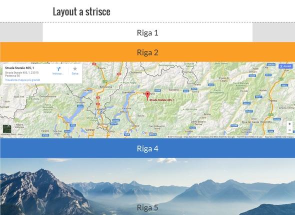 demo layout strisce website x5