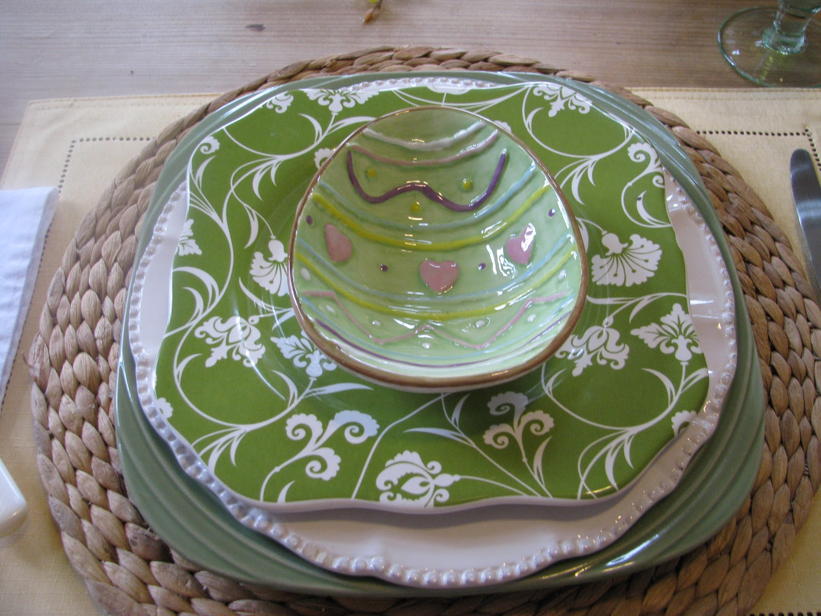 Irish Table Settings Designs By Pinky Our Everyday Spring Placesetting