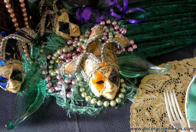 Decoracion de mesas mesa de carnaval 2013 - Mascaras venecianas decoracion ...