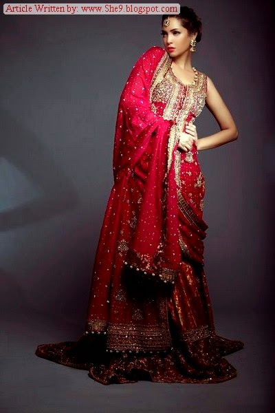 Red and Mahroon Color Bridal Suits